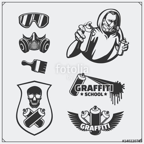 graffiti vector design elements 25x eps quot set of graffiti school and street art labels badges