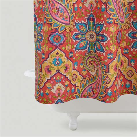 shower curtain paisley phoebe paisley shower curtain world market