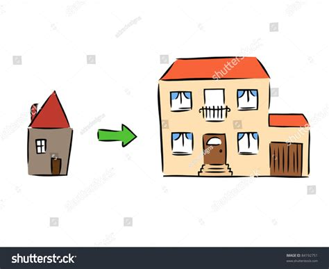 buying a new house and selling old house new house rebuilding moving old house stock vector 84192751 shutterstock
