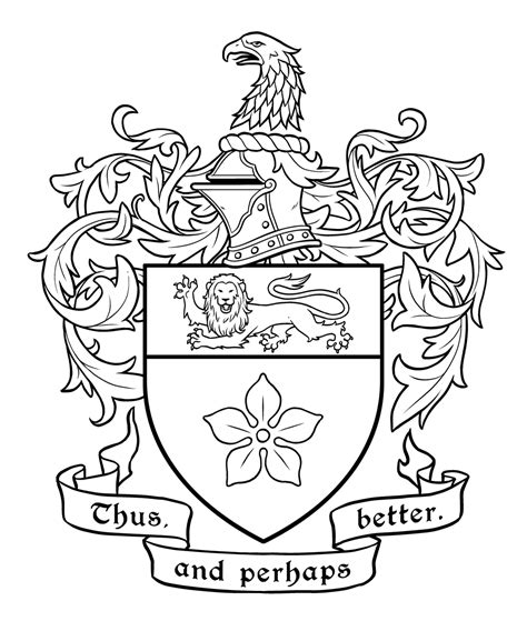 Family Crest Coloring Page Australian Coat Of Arms Colouring Page