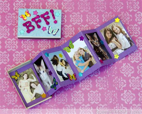 photo crafts for kid craft bff matchbox mini album running with