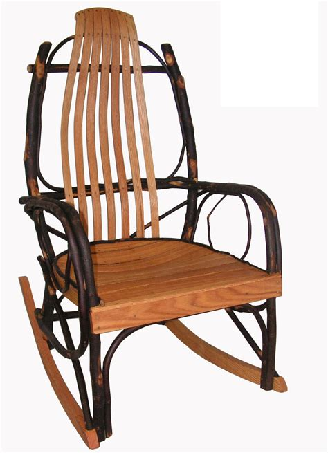 Oak Rocking Chairs by Amish Hickory And Oak Bentwood Rocker Rocking Chair