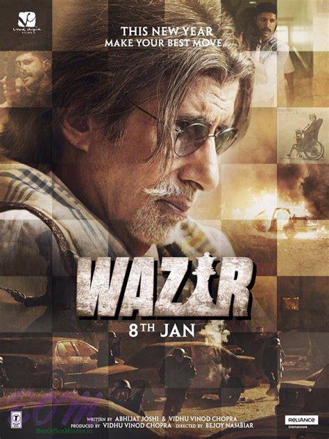 biography of hindi movie wazir amitabh bachchan wazir movie poster pics bollywood actor