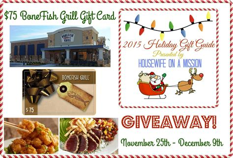 Bonefish Grill Gift Card - 75 bonefish grill gift card giveaway ends 12 9