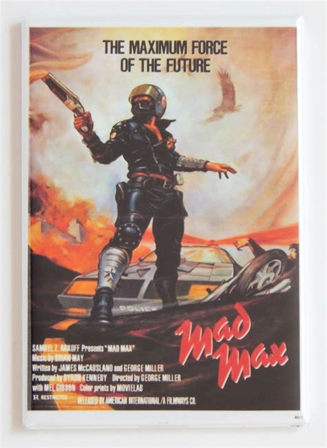 film mad max mad max fridge magnet movie poster mel gibson george
