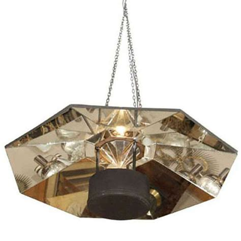 mid century hanging l large mid century octagonal mirrored hanging light fixture