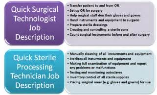 Surgical Description by Is There A Difference Between A Surgical Technologist And A Sterile Processing Technician