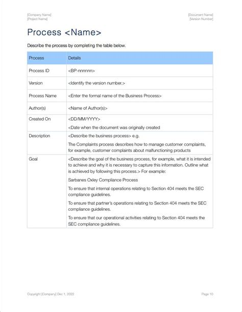 process documentation template process document template 28 images business process