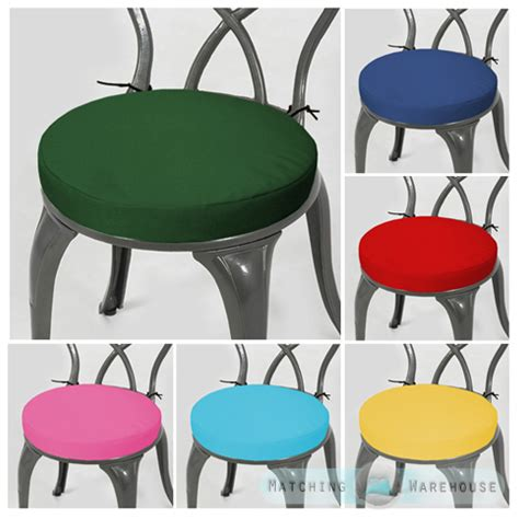 Small Bistro Chair Cushions Garden Chair Cushion Pad Only Waterproof Outdoor Bistro Stool Patio Dining Ebay