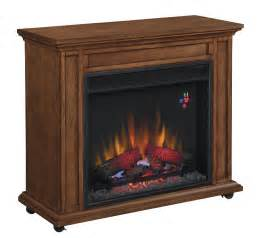 Portable Electric Fireplace 33 Quot Infrared Premium Oak Rolling Mantel Electric Fireplace 23irm1500 O107