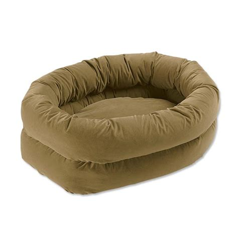 unique dog beds double high bagel dog bed orvis uk