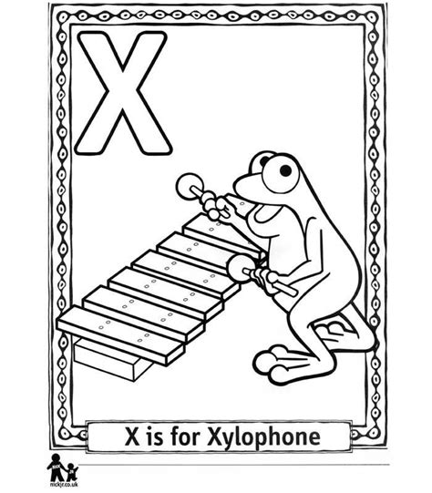 free coloring pages of xylophone x is for xylophone coloring page pre k pinterest