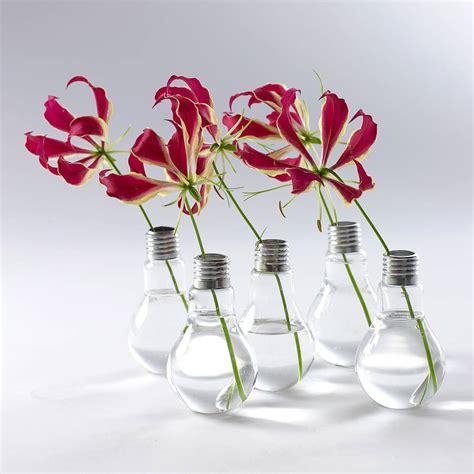 Bulbs In Vases by Lightbulb Vase By Garden Trading