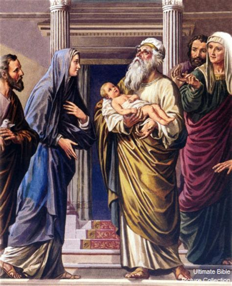 Simeon From The Bible | luke 2 bible pictures simeon with baby jesus