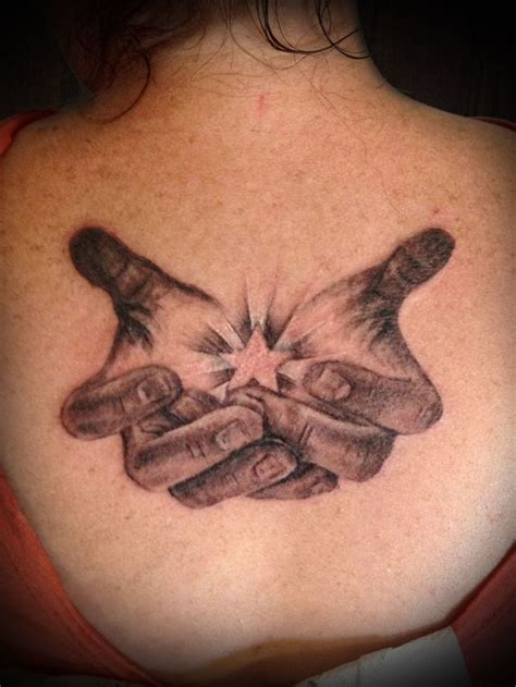 tattoos of hands masonry cartel cupped black and grey