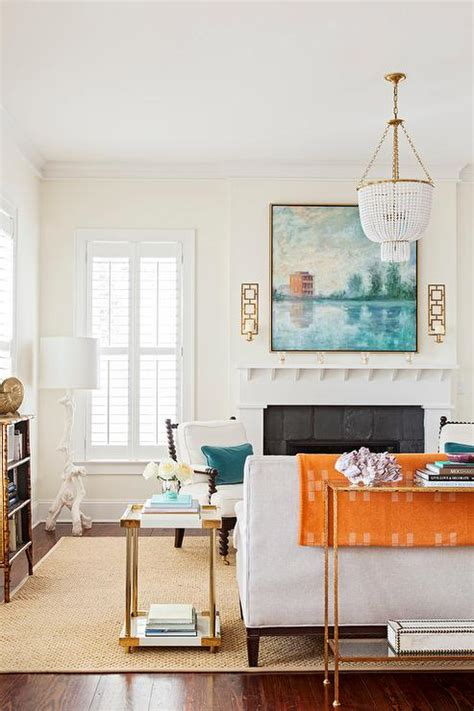 orange white room orange and white living room modern house