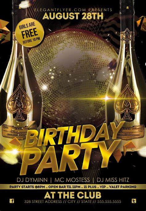 flyer psd template birthday cover