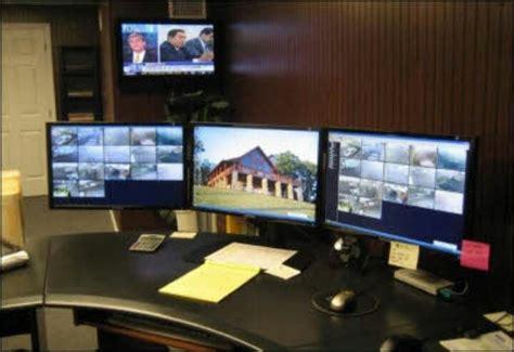 computer desk for 3 monitors monitor entertainment center monitor