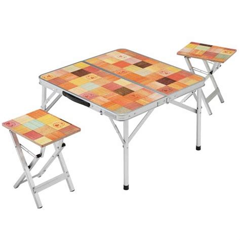 Small Folding Table And Chairs Picnic Printing Folding Aluminum Chairs Outdoor Cing Portable Small Table And Chairs Barbecue