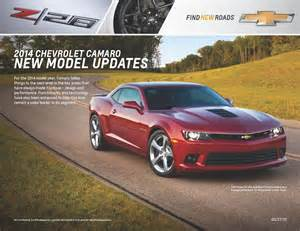 Chevrolet Camaro Brochure 2014 Chevrolet Camaro Details Revealed By Dealer Brochure