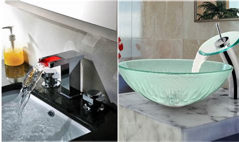 Modern Bathroom Sinks And Faucets by Modern Home Luxury Led Thermal Glass Waterfall