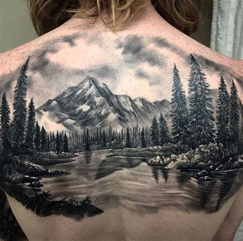 mountain landscape tattoo landscape inkstylemag