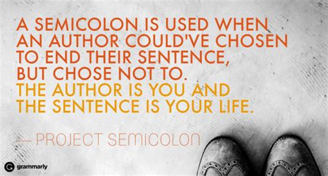 what does the semicolon tattoo mean the meaning a semicolon grammarly