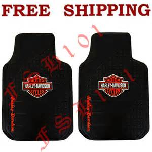 new 2pc set harley davidson front rubber car truck floor mats