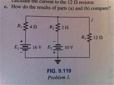 the current through the 20 ohm resistor does not change a using the superposition theorem determine the chegg
