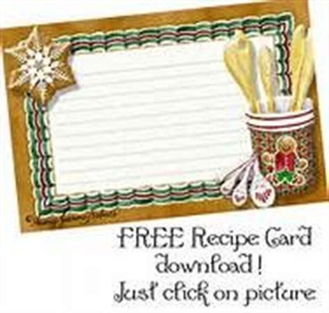 gingerbread recipe card template pin by lmac on gifts