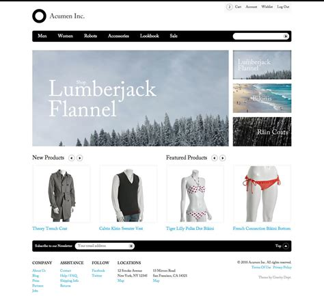 acumen the highly extensible magento theme by