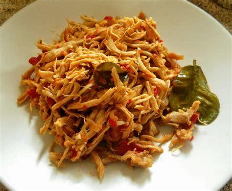 resep daging ayam suwir pedas hidangan  pas