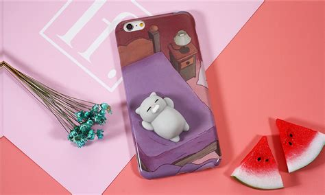 Ks Cheetah Iphone 6 6s 6plus 6splus 7 7plus bakeey 3d squishy squeeze rising cat panda soft tpu for iphone 6 6s 6plus