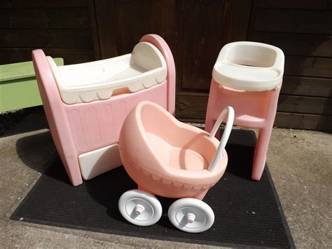baby doll bed and highchair set tikes original 3pc baby doll set buggy crib drawer