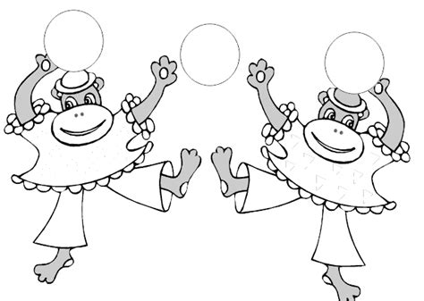 circus monkey coloring pages how to draw circus monkey