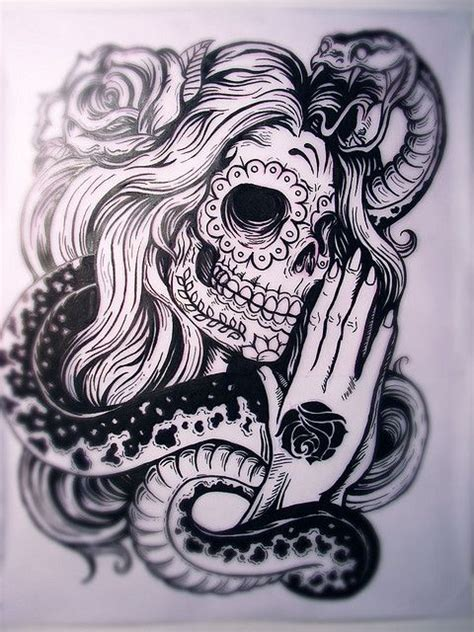 pinterest tattoo skull mexican santa muerte mexican flash tattoo skull tattoo flash