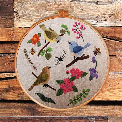 nature cross stitch pattern spring beauty cross stitch pattern modern nature counted