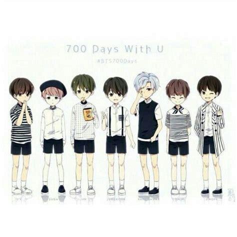 bts chibi anime characters army s amino