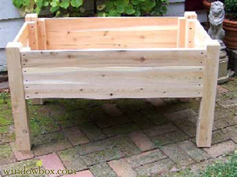Wooden Planters On Legs 24in raised garden planter on legs wooden planters