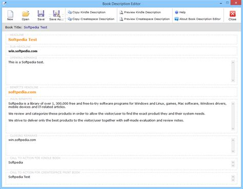 Book Editor Description book description editor 1 4 18 incl serial keygen