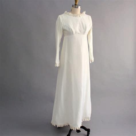 Velvet Vintage Wedding Dresses by White Velvet Wedding Dress Empire Waist Wedding Dress