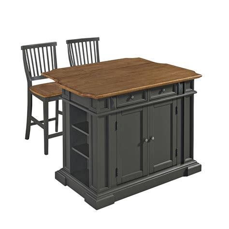 americana kitchen island with two stools home styles