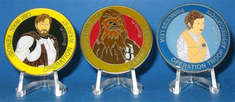 Medali Wars 2017 Chewbacca Medallion operation troop appreciation imperial holocron