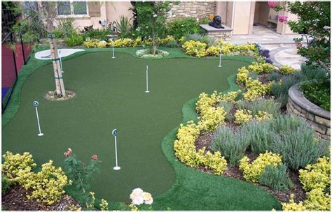 backyard golf outdoor living