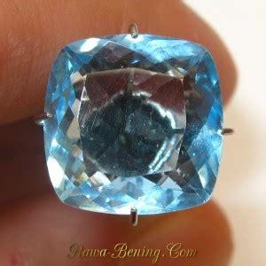 Blue Topaz 6 45 Carat jual batu topaz bentuk kotak sudut lengkung 6 45 carat