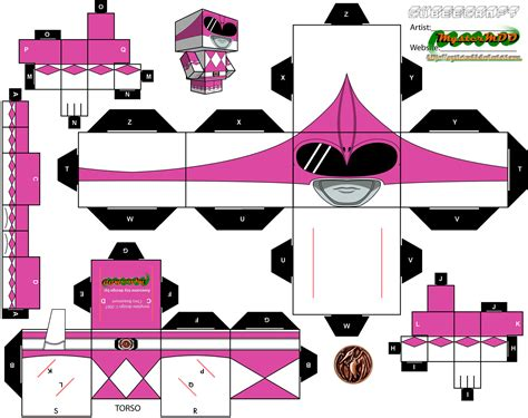 Power Ranger Papercraft - power rangers paper crafts