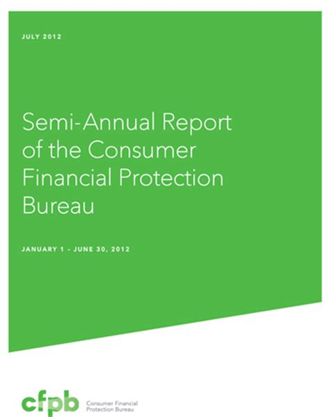 us consumer protection bureau semi annual report to the president and congress gt reports