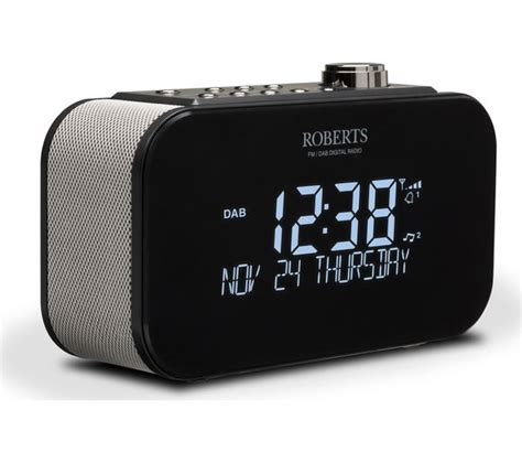 buy roberts ortus  dabfm clock radio black