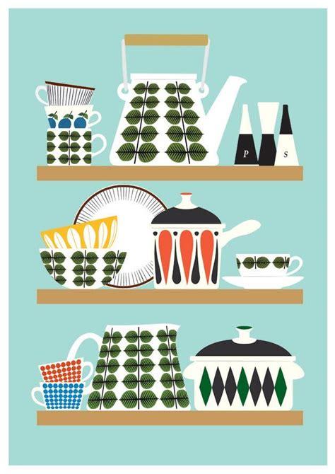 free printable kitchen poster scandinavian kitchen print stig lindberg bersa mid