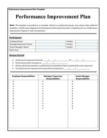 Writing Induction Plans And Reviewing Progress by 40 Performance Improvement Plan Templates Exles
